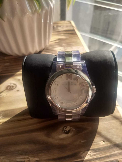 Reloj Seminuevo De Marca Marc Jacobs Extensible Transparente