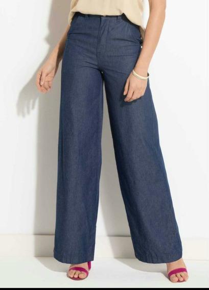 Calça Quintess Jeans Pantalona