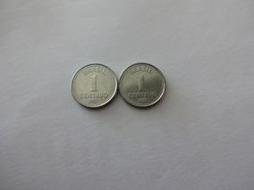 Moedas De 1 Centavo De Cruzado 1987 E 1988 Dificil.
