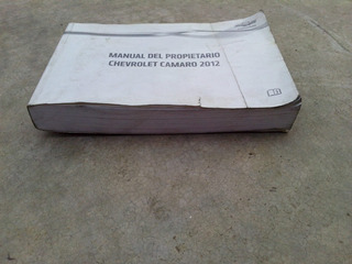 Manual Del Usuario Camaro 2012