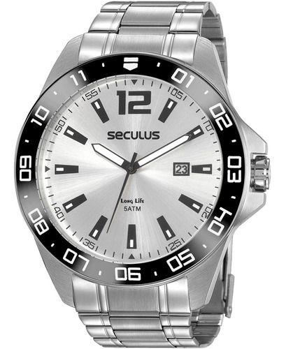Relógio Masculino Seculus Long Life 20809g0svna1