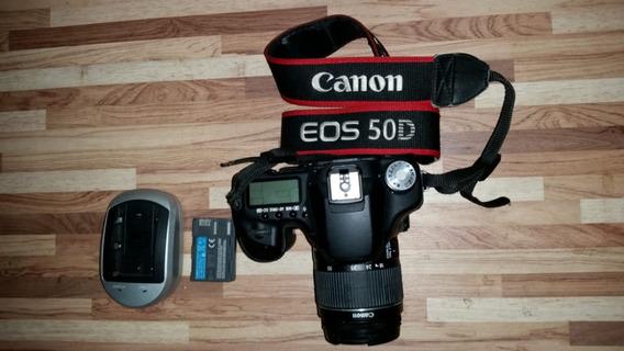 Canon Eos 50d Com Lente 18-55 Bateria E Carregador