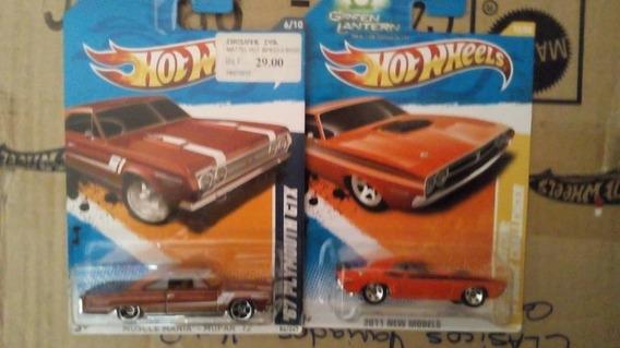 Hotwheels Dodge Mopar Años 60y70 Parte 3 Escala 1/64 Nuevos!