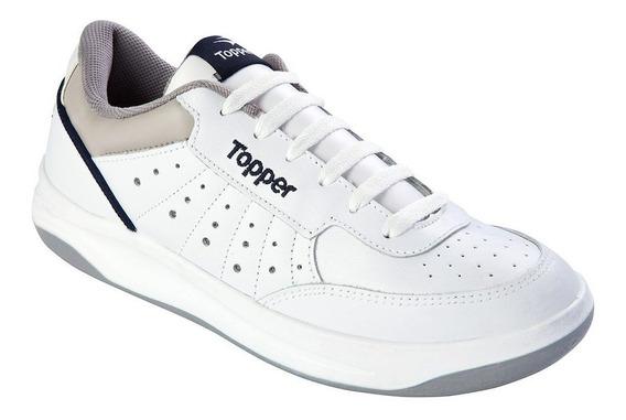 Zapatillas Topper X Forcer Hombre Blanca Comb.