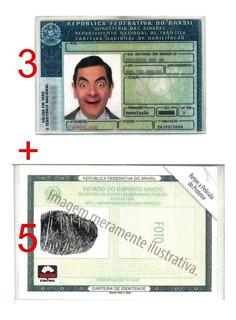 Kit Protetores 5cnh+3dut+1rg Em Acrílico C/ Frete Incluso
