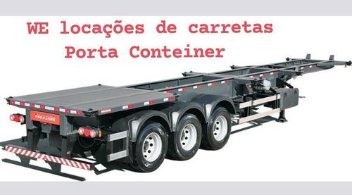 Imagem 1 de 3 de Locação De Carreta Porta Conteiner