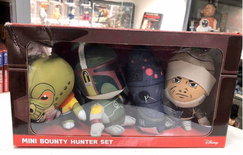 Star Wars Peluches Set Bounty Hunter Boba Fett Bossk Ig-88