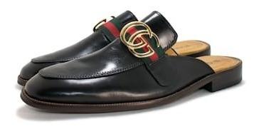 Sapato Mule Masculino Gucci Couro Original Super Oferta