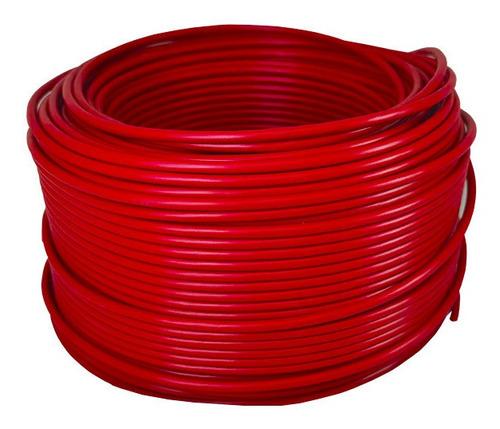 Imagen 1 de 1 de Cable Electrico Cca Calibre 8 Rojo 100 Metros