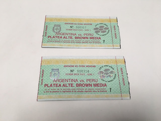 Entradas Partido Argentina-perú Eliminatorias 1993