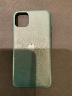 Funda Cuero Apple Original iPhone 11 Pro Max Verde Impecable