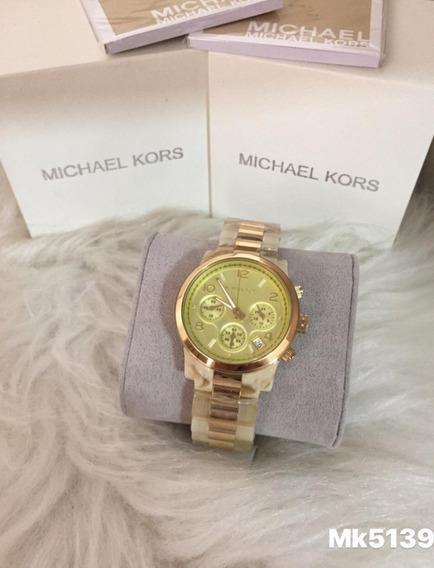 Relógio G09 Misto Michael Kors Feminino Mk5139 Madreperolada