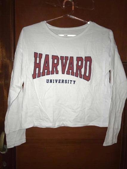 Remera Manga Larga Harvard