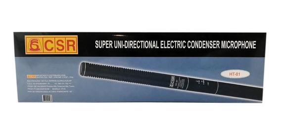 Super Uni-directional Electric Condenser Microphone Ht-81a