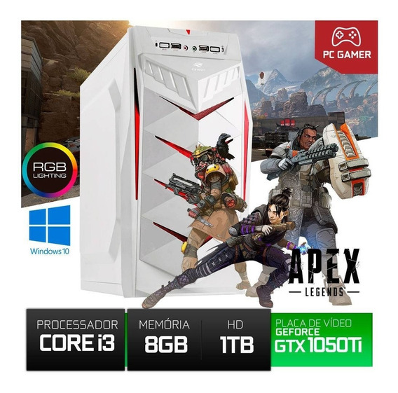 Cpu Gamer Core I3 8gb Ram Gtx 1050 Ti 4gb