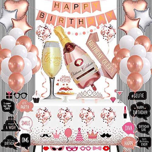 Kit De Decoración De Fiesta De Cumpleaños Para Mujeres