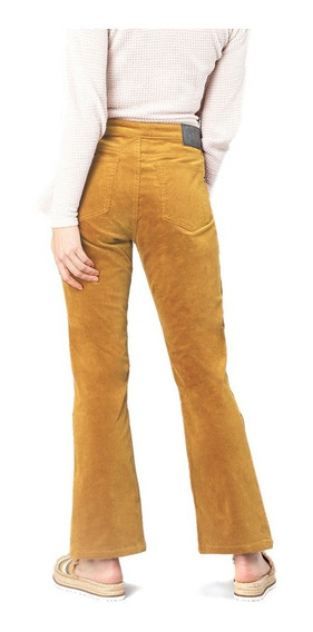 Pantalon Mujer Rusty Tell Me All Cord Flare Camel