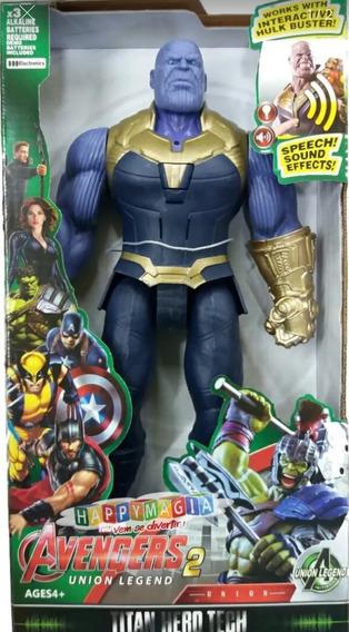 Thanos Articulado 30cm C/ Luz E Som Heroes Vingadores