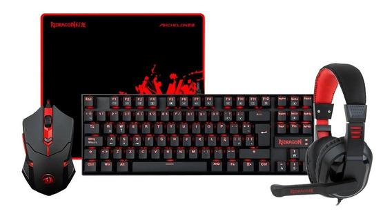 Kit Gamer Redragon Teclado Mec Mouse Auricular 1