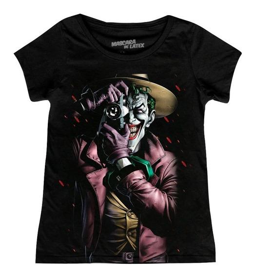 Playera The Killing Joke Mujer Máscara De Látex Joker