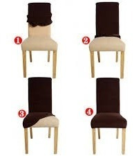 Capas Para Cadeiras Jantar Com 12 Peças Atacado Varias Cores