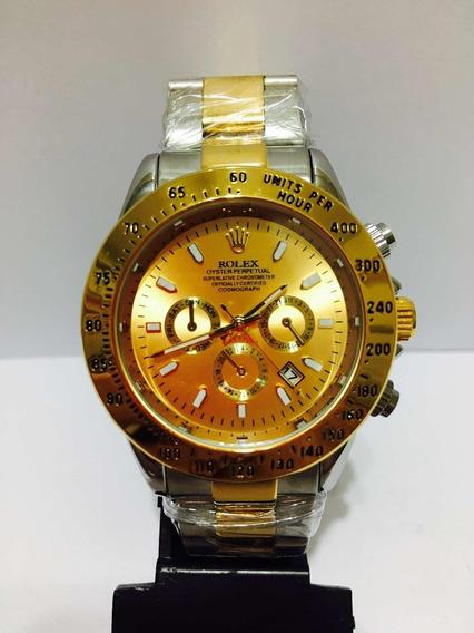 Relógio Daytona Misto Dourado