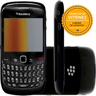 Celular Blackberry Curve 8520 Single 2g 2mp Preto Vitrine 3