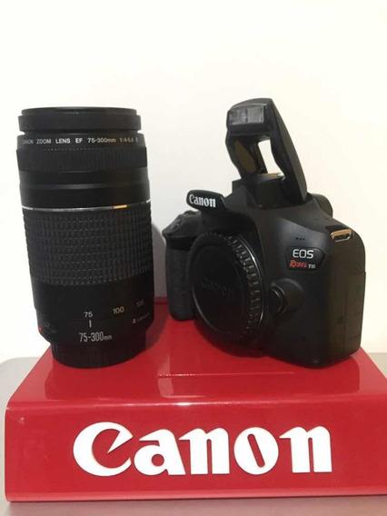 Canon T6 C/lente 75-300 Com 6 Mil Clicks E Bag