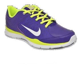 Tênis Nike Core Flex Couro Casual Caminhada Roxo Original Nf