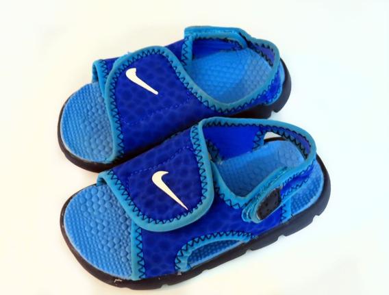 Ojotas Niños Adjust Nike Azul Originales