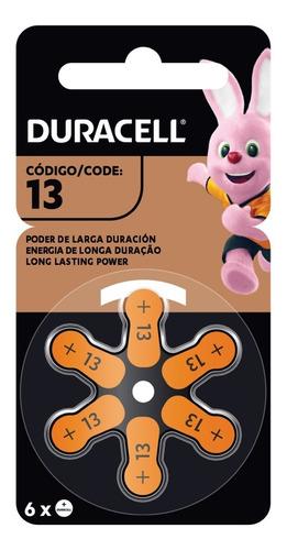 Imagen 1 de 6 de Duracell Pila Para Audífono Tamaño 13 En Cusco