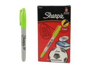 Caneta Sharpie Verde Lima - Caixa C/ 6 Unidades