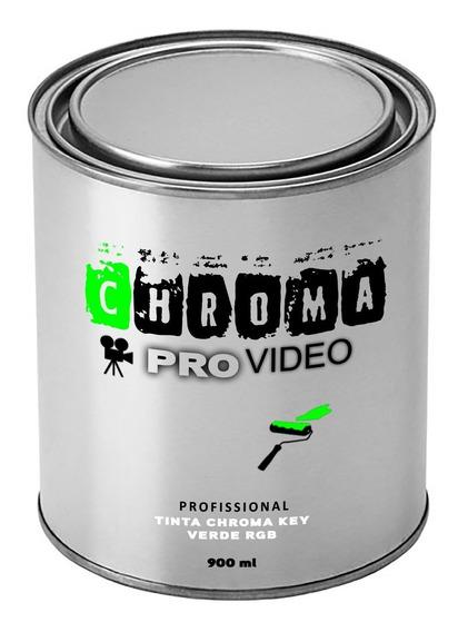 Chroma Key Tinta Verde Lata 1/4 900 Ml Rende 4 À 5 M²