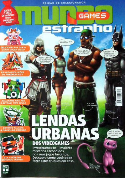 Revista Mundo Estranho Games 2 Lendas Urbanas Batman Pokemon