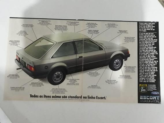 Propaganda Antiga Ford Escort Raro Anúncio Publicidade !!!