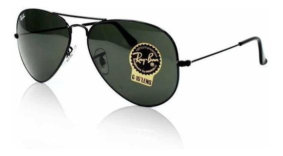 Óculos De Sol Ray Ban Aviador Preto Rb3025