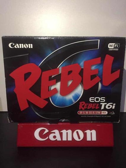 Canon Rebel T6i Kit 18-55m C/caixa Estado De Nova C/3 Mil Ck