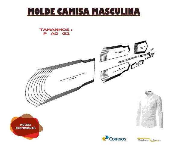 Molde Camisa Slim Manga Longa/curta P Aog3 Frete Gratis