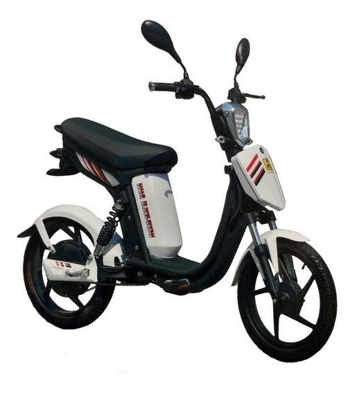 Moto Electrica Ecolo-c305 Blanca Con Alarma Y Encendido Dimm
