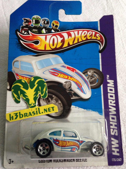 Bx307 Hot Wheels Fusca Vw Custom Beetle Volkswagen Eua H3br