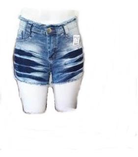 ,kit C/10 Bermuda Short Jeans Cintura Alta, Fabrica Atacado