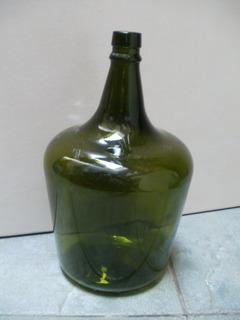 Antiguo Botellón Vidrio Verde Oscuro 5 Litros Zona Caballito