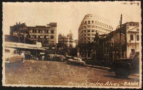Cartão Postal Antigo Salvador Bahia Praça Castro Alves