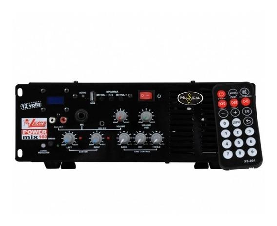 Amplificador Leacs Power Mix960 12 Volts