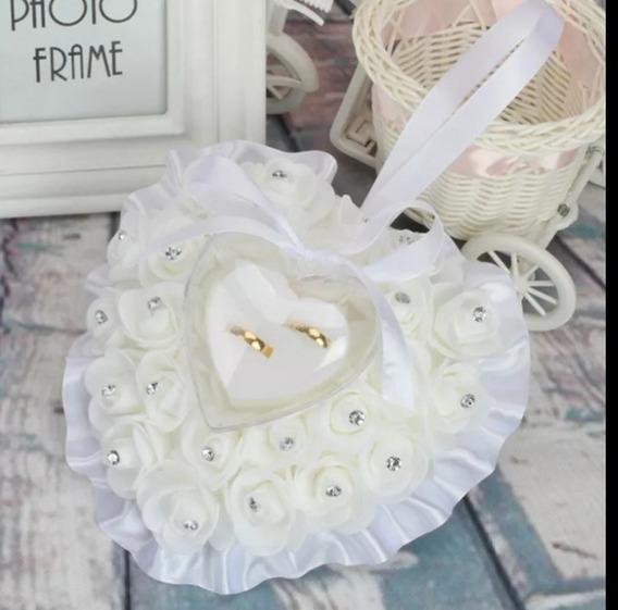 Porta Alianças Com Rosas Para Casamentos, Noivados