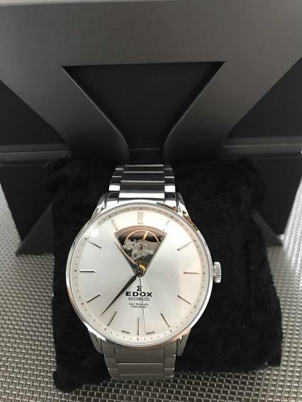 Relógio Edox Las Vauverts Openheart Swiss Made Slim