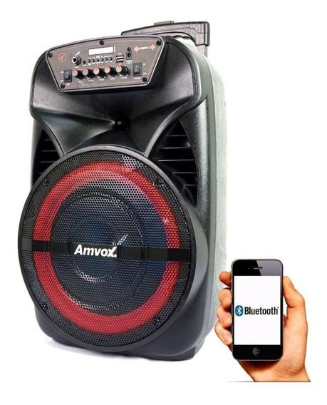 Caixa De Som Amplificada Aca 280w Amvox Bluetooth