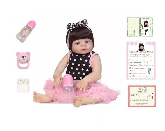 Bebe Reborn Corpo Silicone Menina Boneca Reborn Realist 47cm