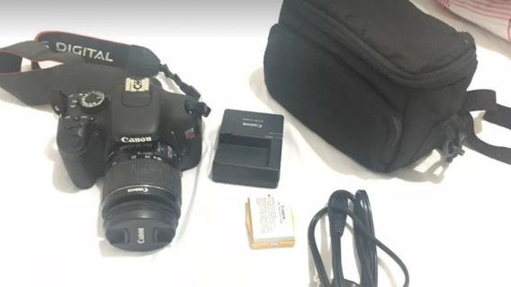 Canon T3i + Lente 18-55mm Com Bolsa Para Transporte E Sd