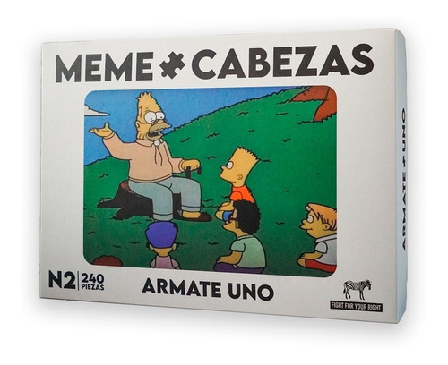 Juego De Mesa Meme Cabeza Fight Rompecabeza Edicion Abuelo